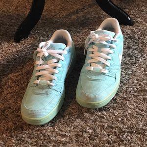 Light blue Nike's